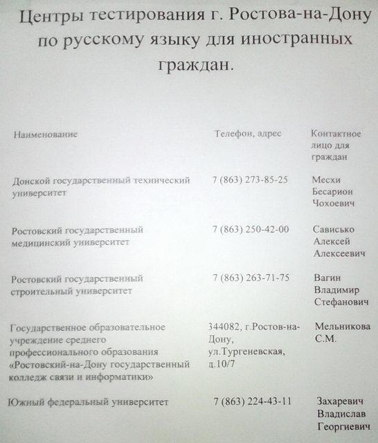 экзамен по русскому языку для получения гражданства где сдать
